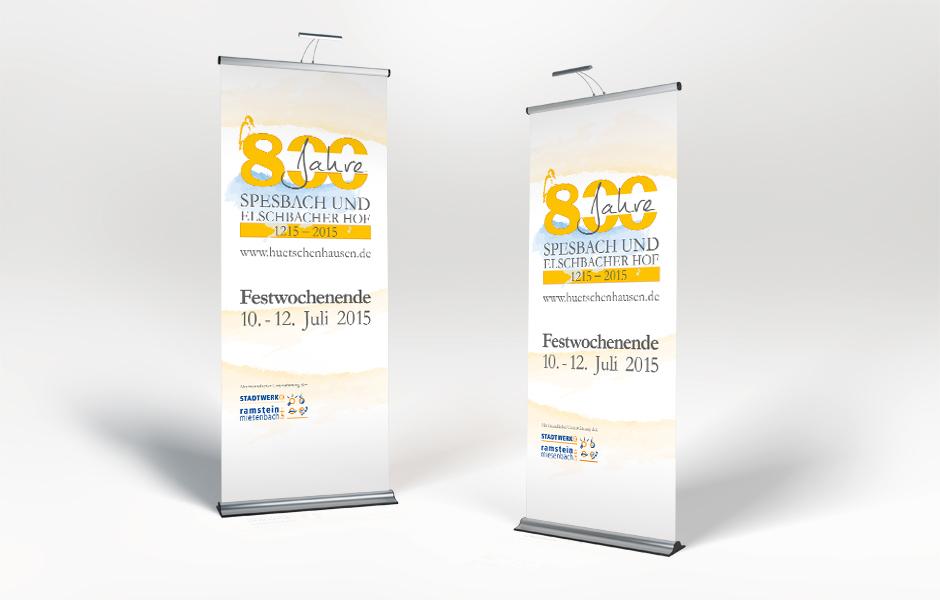 Roll Ups 800-Jahrfeier OG Hütschenhausen