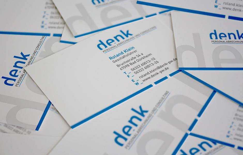 denk GmbH Visitenkarten